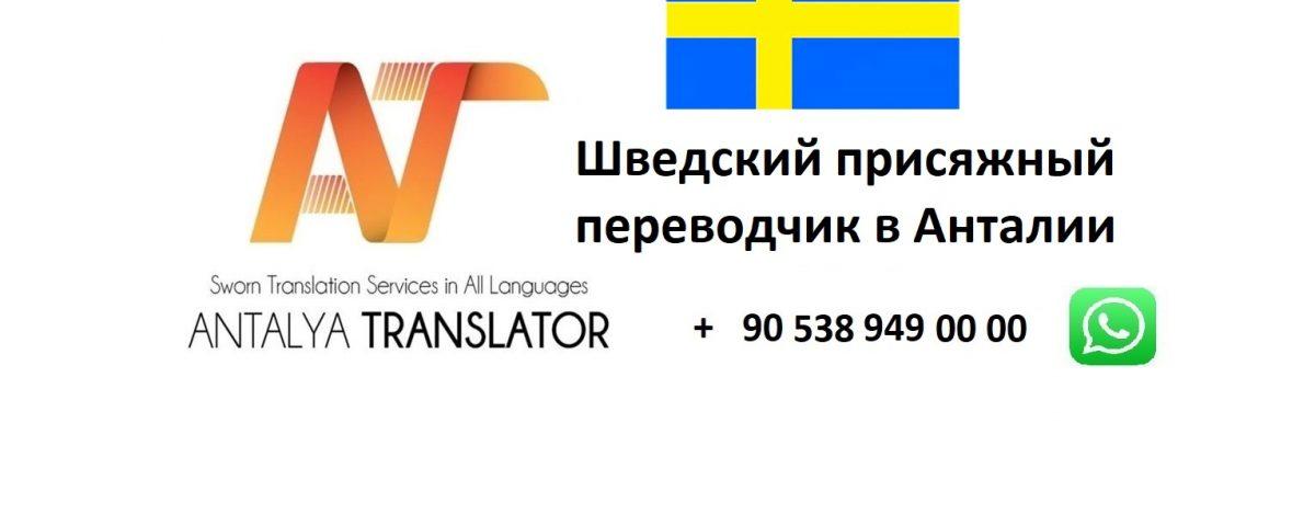 Шведский присяжный переводчик в Анталии