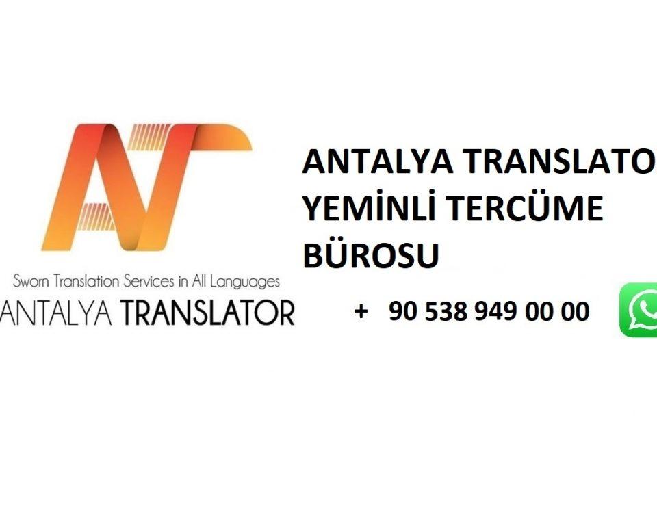 Antalya-Translator- Öğrenci- İkameti- Nasıll- Alınır