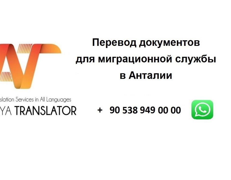 Перевод документов для миграционной службы в Анталии