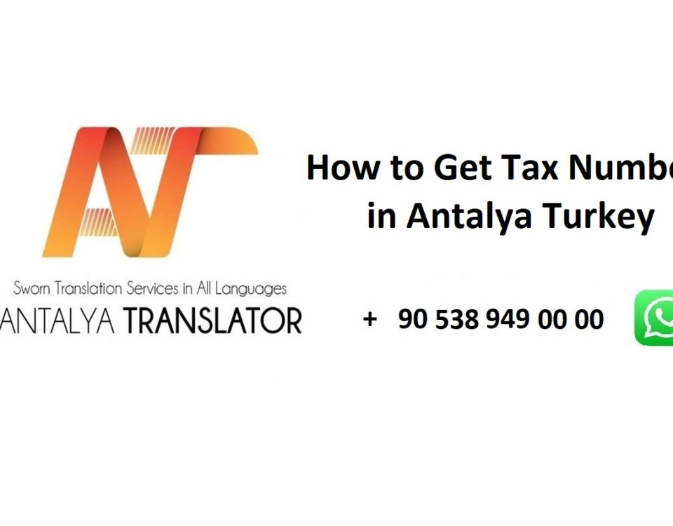 How to Get Tax Number ID in Antalya Turkey