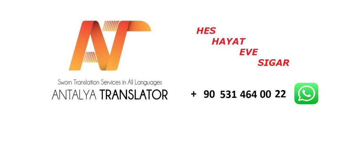 ANTALYA TRANSLATOR HES